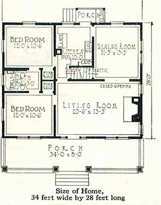 floor plan for the Montgomery Ward Michigan  @ Sears Homes of Chicagoland