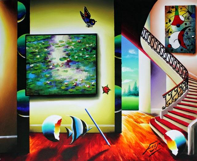 Sol nas Almofadas d Lírios - Ferjo e suas pinturas ~ O artista da pintura dentro de outra