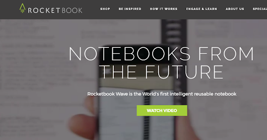The Rocketbook Wave Notebook