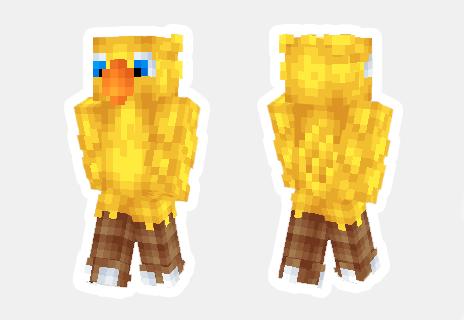 skin de chocobo minecraft