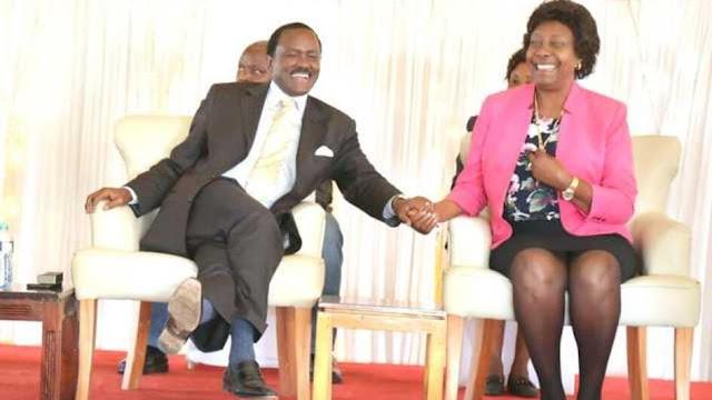 Wiper boss Kalonzo Musyoka with NARC leader Charity Ngilu