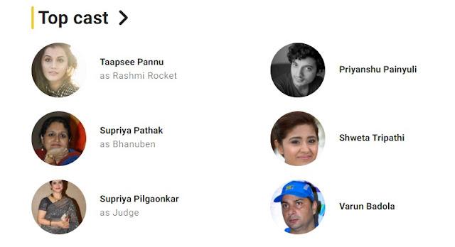Rashmi Rocket (2021) Movie Cast