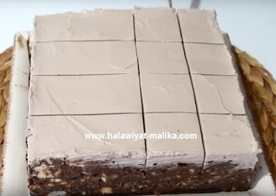 كيكة البسكويت الباردة بالشوكولاته بدون فرن