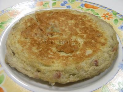 tortilla de habas con jamón