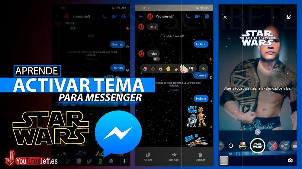 Activar Nuevo Tema Star Wars en Messenger 🥰