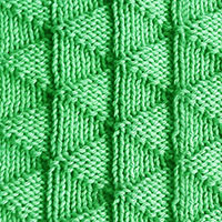 Flying Geese stitch pattern. Easy stitch pattern, if you can knit and purl you can knit it.