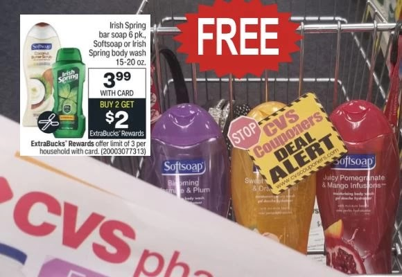 free soft soap body wash cvs this week