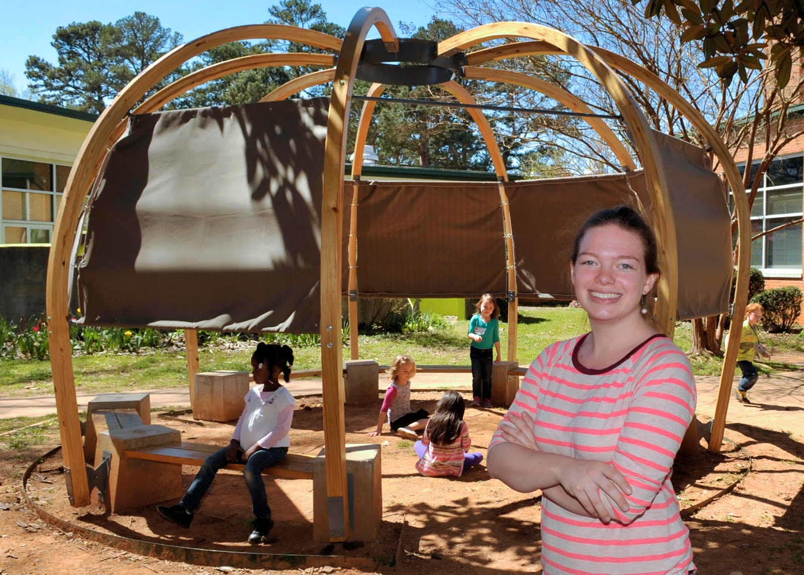 Unc Charlotte News Architect Students Build Outdoor Classroom