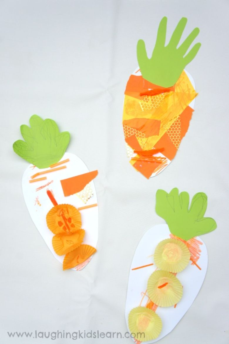 Easter crafts for toddlers - carrot craft
