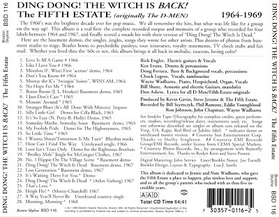 The 5th Estate -Ding Dong! The Witch Is Back!: The Fifth Estate, 1964-1969
