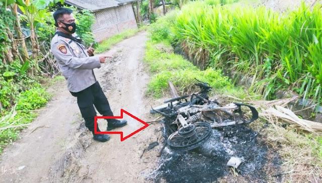 Terciduk! Dua Orang Maling Motor di Pujut Loteng Hampir Dibakar Masa