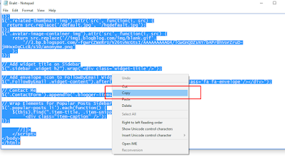 cara mengganti template blogger yang sudah di download