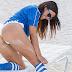 El Sexy festejo de Claudia Romani por la selección italiana