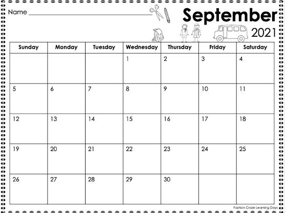 Editable monthly calendars for teachers
