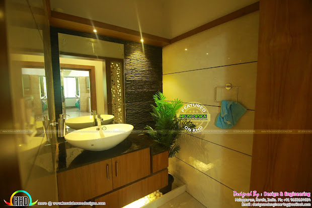 Furnished Interior And Exterior Of House In