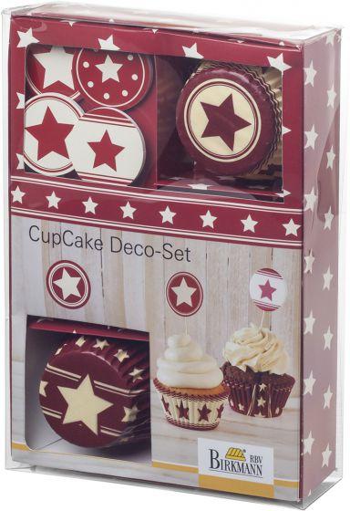 Cup Cake Deko Set Sterne