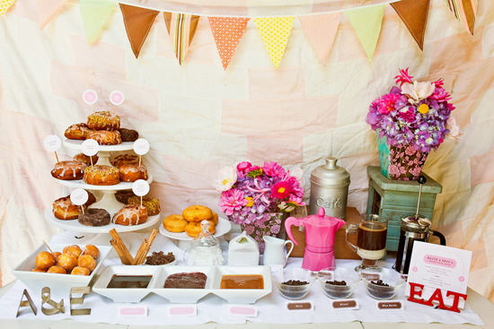 Party Ideas Donut Coffee Bar