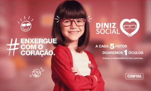 Óticas Diniz transformam engajamento nas redes sociais em doação de óculos