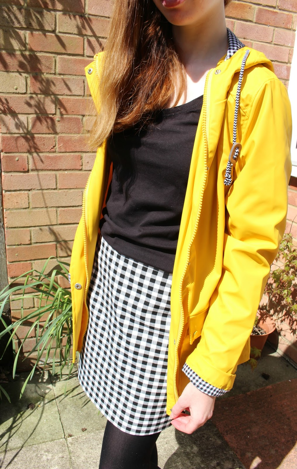 yellow rain mac coat Topshop cheap Here Comes The Sun | Outfit Snippet