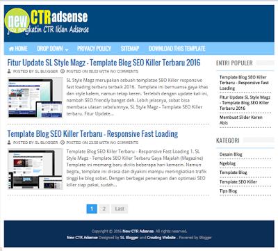 New CTR Adsense - Template SEO Ningkatin CTR Iklan Adsense
