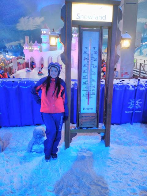 termometro gigante e neve artificial