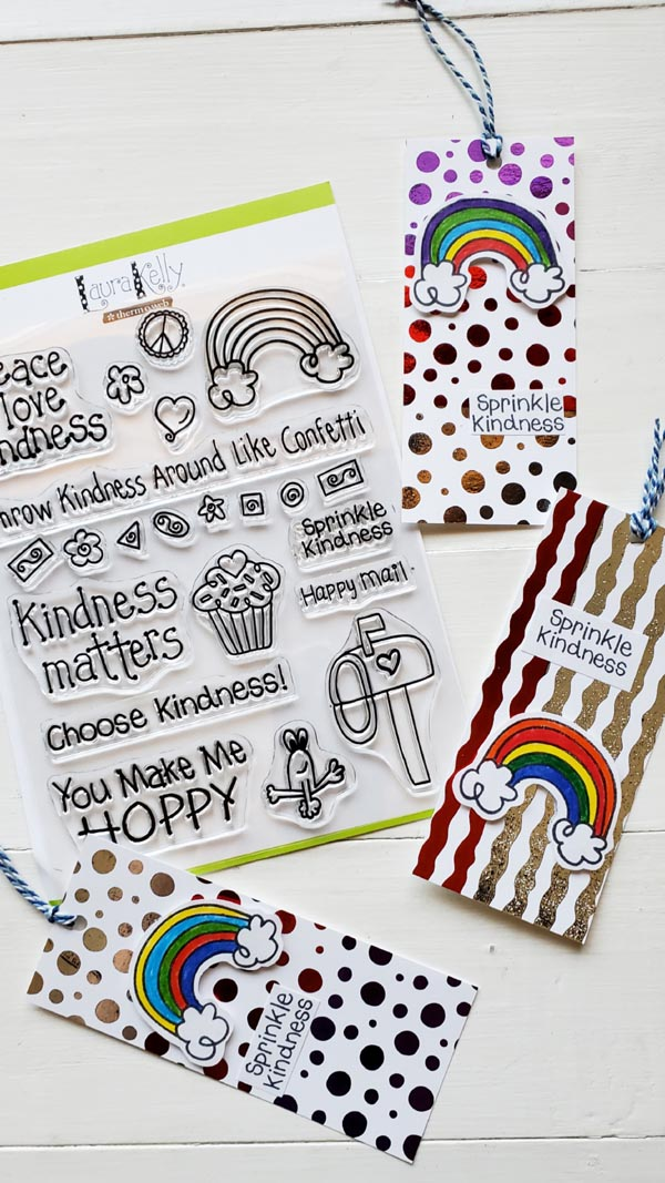 These cute bookmarks would make a great back-to-school gift tag for a new teacher! Leave a note for the mail carrier, keep some notes in your bag and pass them out to a grocery cashier, have some by the front door for the next door-to-door salesman!   So many wonderful ways to sprinkle kindness!