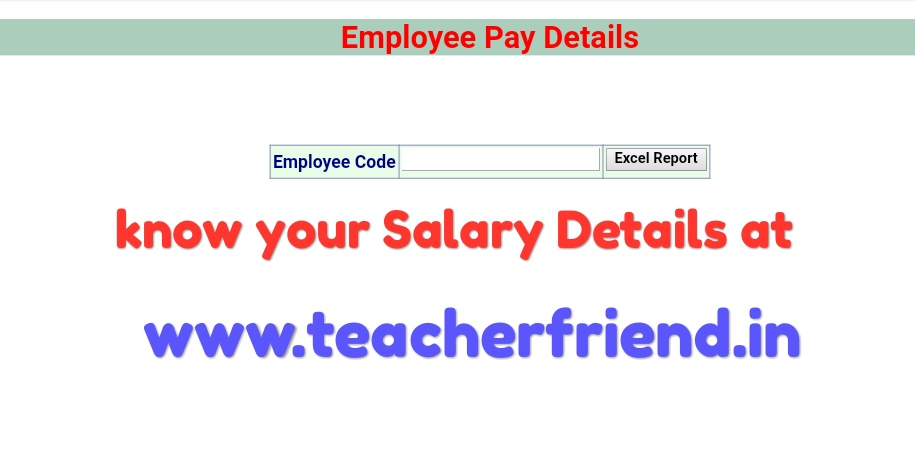 Know your Employee Monthly Salary Details/Pay slips Download - monthly pay slip