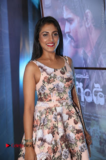 Actress Madhu Shalini Stills in Floral Short Dress at RGV Shiva to Vangaveeti Event  0037.JPG