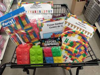 Dollar Tree Lego Party Supplies