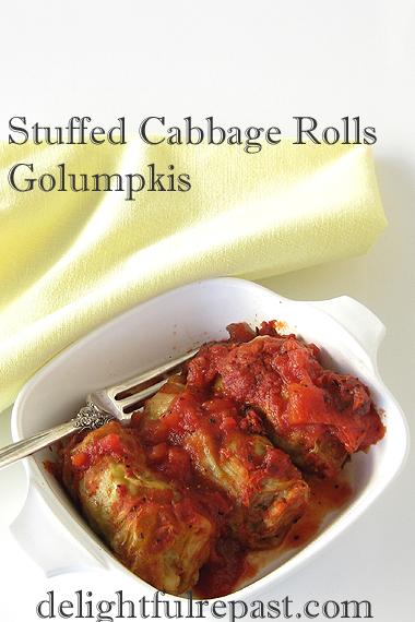 Stuffed Cabbage Rolls - Golumpkis / www.delightfulrepast.com
