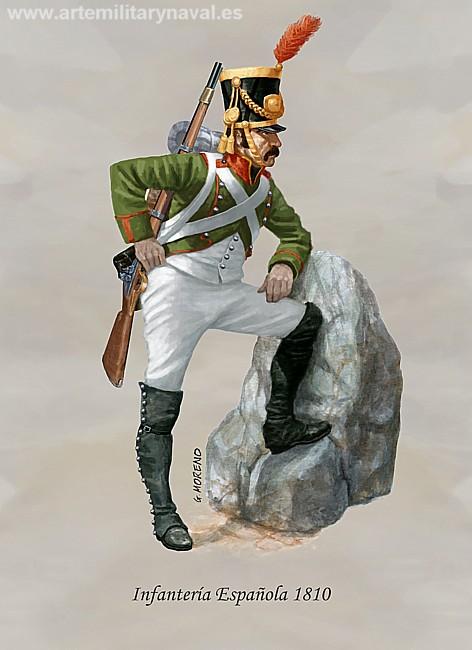 Infantería española 1810