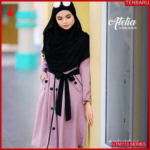 UTM113A55 Baju Atelia Muslim Tunik UTM113A55 071 | Terbaru BMGShop