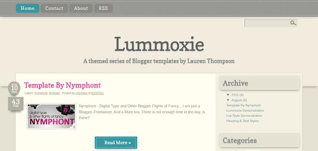 Lummoxie - Blogger Templates