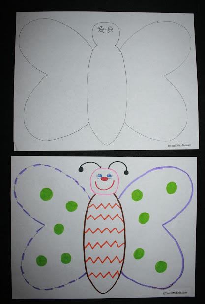 Classroom Freebies Butterfly Glyph
