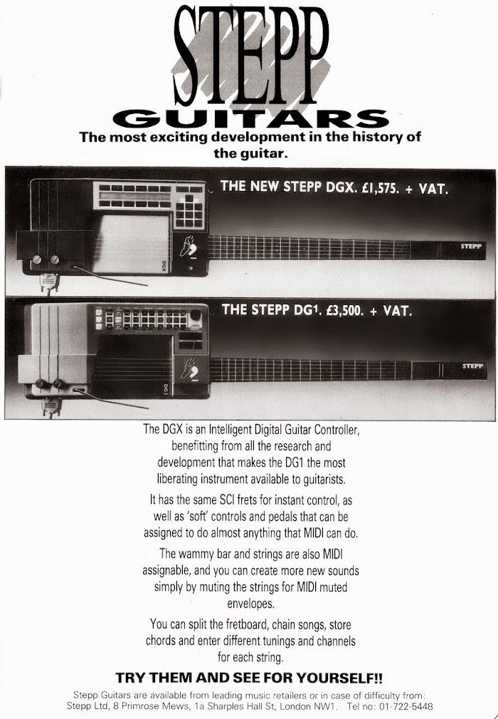 Stepp guitars advert 1987