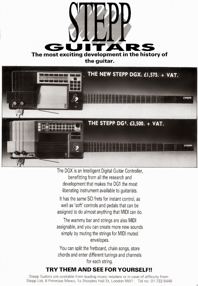 Stepp guitars advert 1987