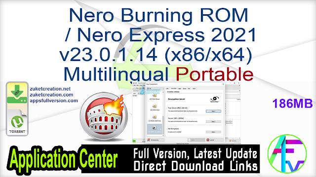 Nero Burning ROM Nero Express 2021 v23.0.1.14 (x86 x64) Multilingual Portable