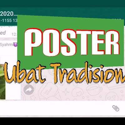 Ubat Tradisional di Rumah: Kreatifnya Murid Edit Poster