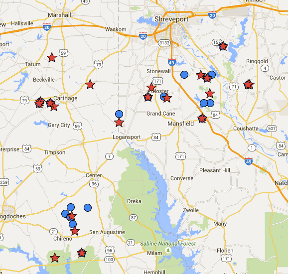 Haynesville Play: The Haynesville Shale Resource: Rig Map Updated