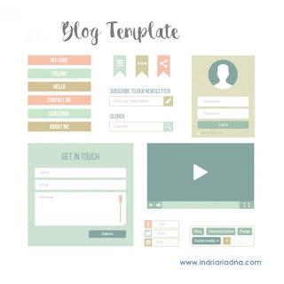 pilih template blog premium