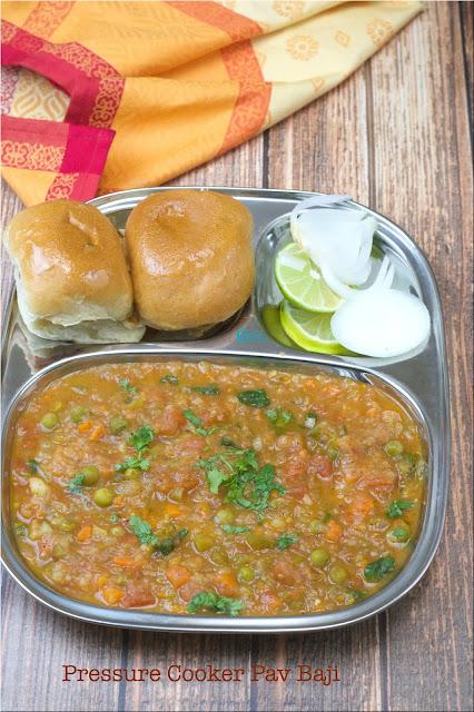 One Pot Pav Bhaji in Pressure Cooker