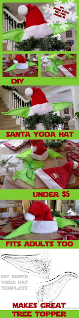 Pinterest DIY Santa Yoda Hat Graphic