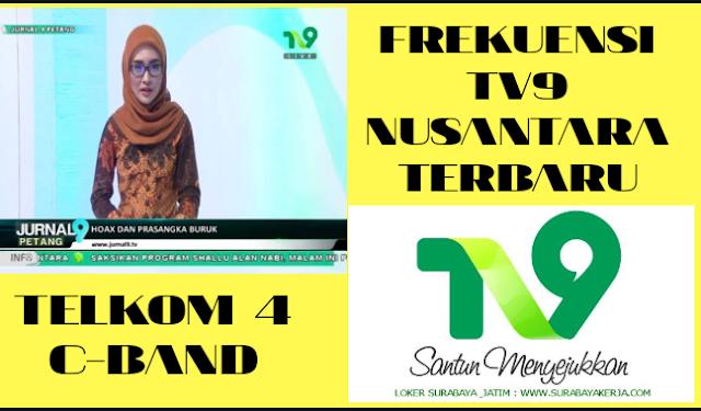 Frekuensi Siaran Channel TV9 Nusantara Telkom 4 C-Band Terbaru Agustus 2020