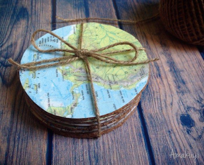 Cómo hacer posavasos originales- Diy posavasos viajeros