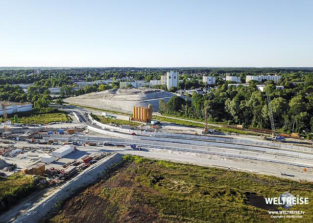 Bau des Hafentunnels A27 in Bremerhaven