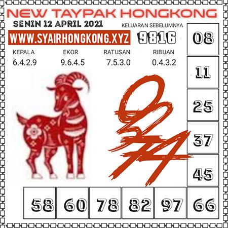 Prediksi New Taypak Hongkong Senin 12 April 2021