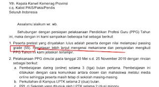 Berapakah Passing Grade Pretes PPG Kemenag 2019