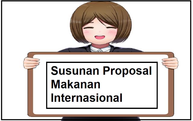 susunan proposal makanan
