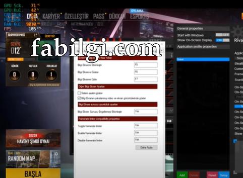 Oyunlarda RAM, FPS, CPU Gücü Değerleri Gösterme Programı