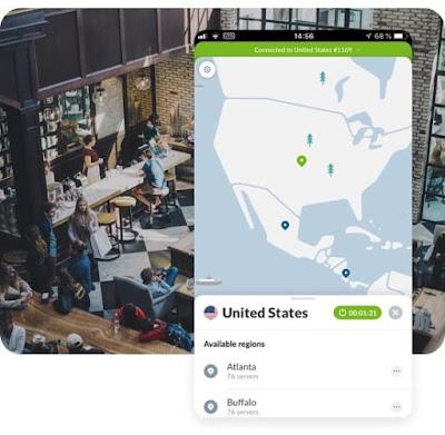 تطبيق فتح المواقع المحجوبة حول العالم وتصفح الإنترنت بشكل خفي NordVPN النسخة المدفوعة